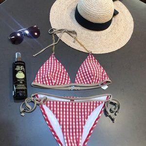 Guess Red Gingham Bikini